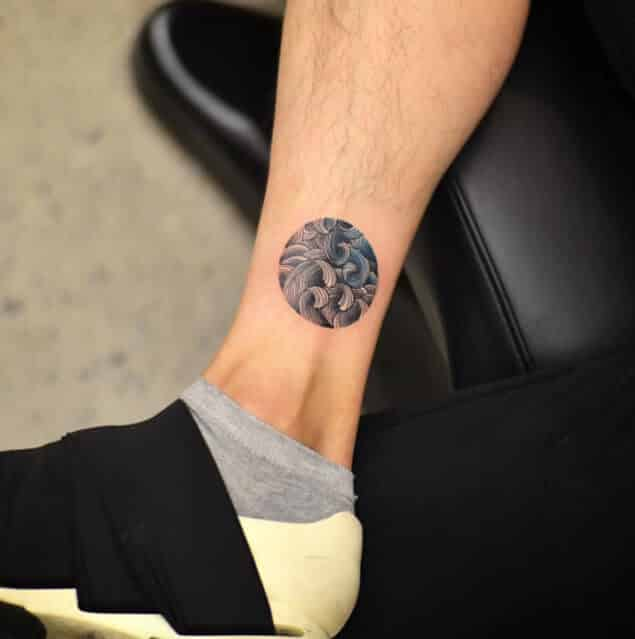 Wave tattoos for men ideas and inspiration for guys for Ankle tattoos on men