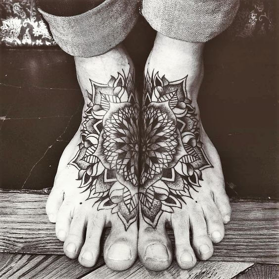 Mandala tattoos for men ideas and designs for guys for Mens foot tattoos