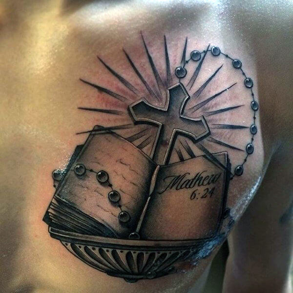 6167913b831ea Scripture Tattoos for Men - Ideas and Designs for Guys