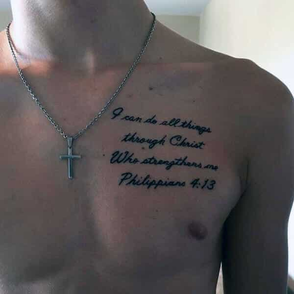 scripture tattoos for men ideas and designs for guys. Black Bedroom Furniture Sets. Home Design Ideas