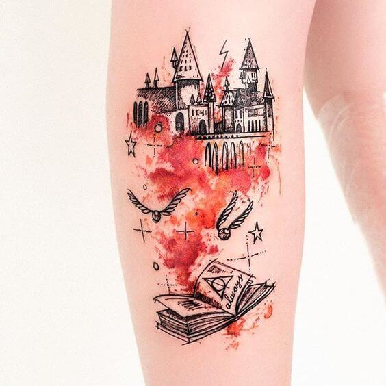 harry potter tattoos for men ideas and designs for guys. Black Bedroom Furniture Sets. Home Design Ideas