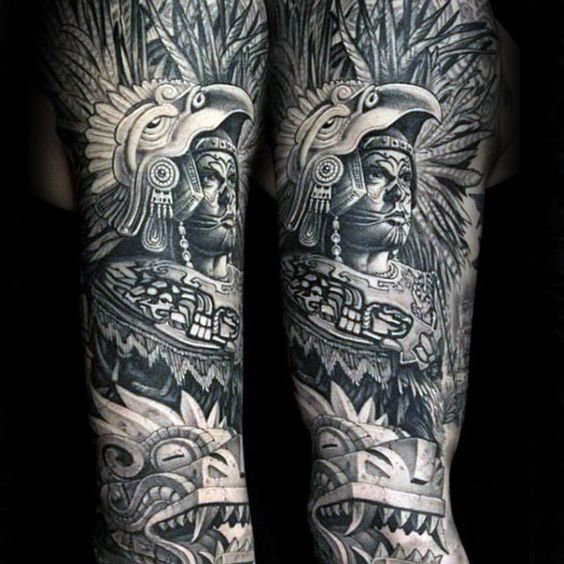 aztec tattoos for men ideas and designs for guys. Black Bedroom Furniture Sets. Home Design Ideas