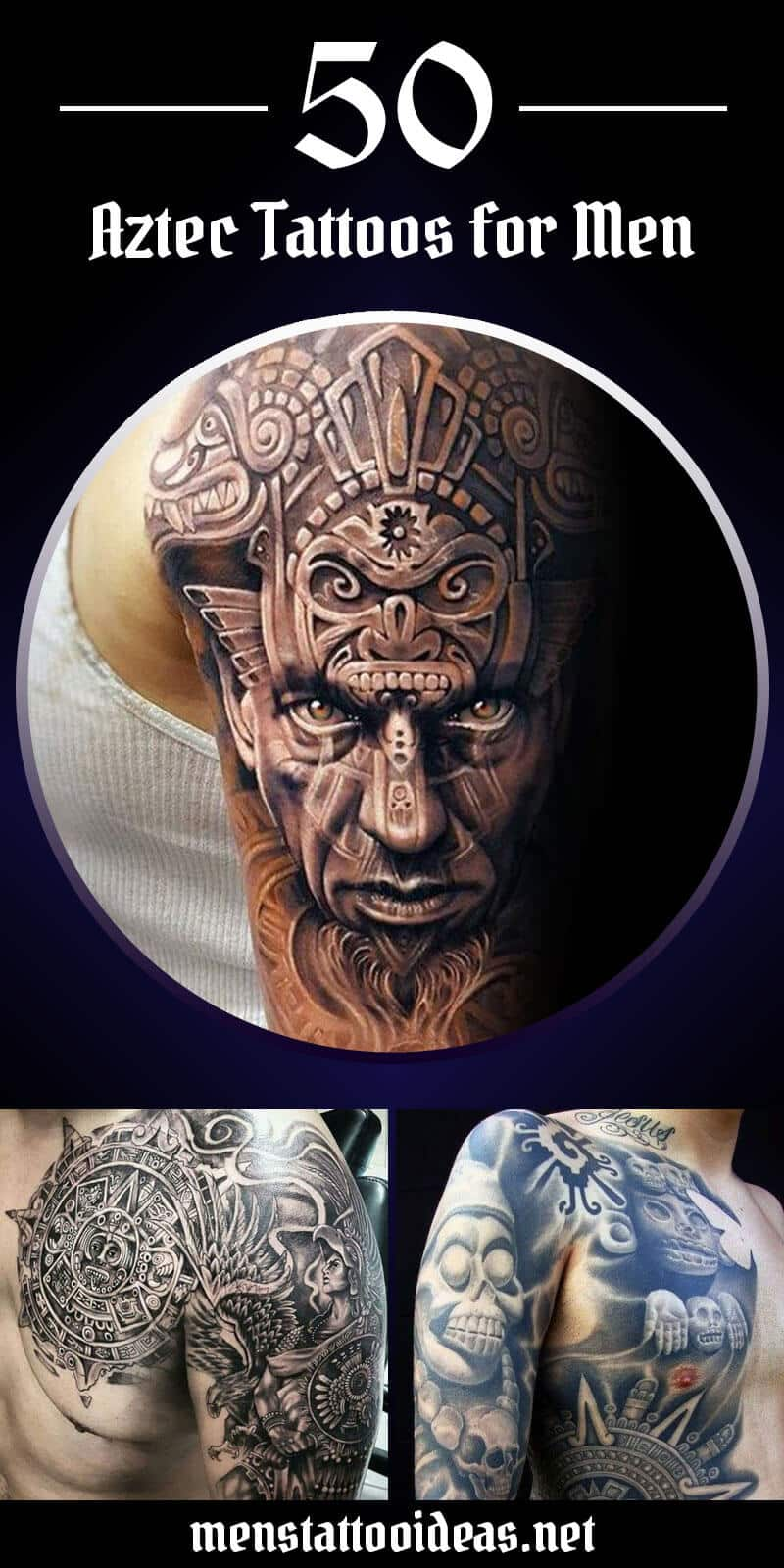 cc2947478 Aztec Tattoos for Men - Ideas and Designs for Guys