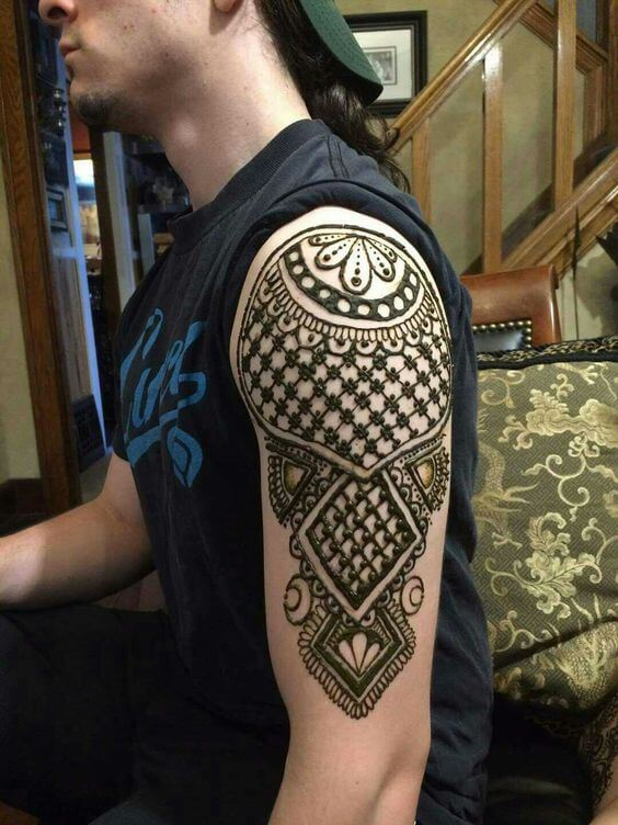 Henna Tattoo Hand Man: Ideas And Designs For Guys