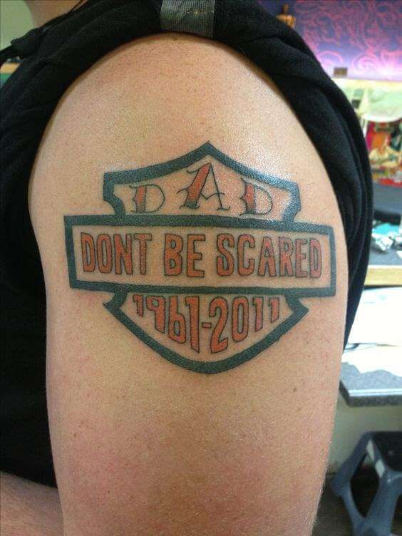 Rip tattoos for men ideas and designs for guys for Father son memorial tattoos