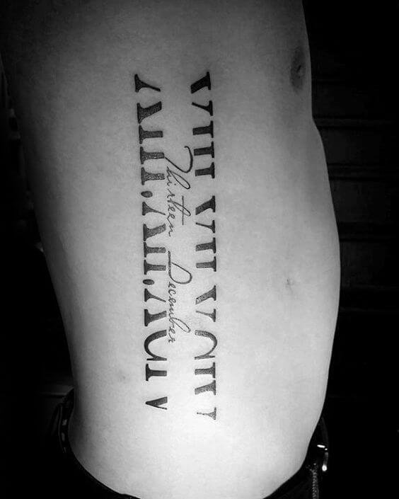 Roman numeral tattoos for men ideas and designs for guys for Roman numerals tattoo creator