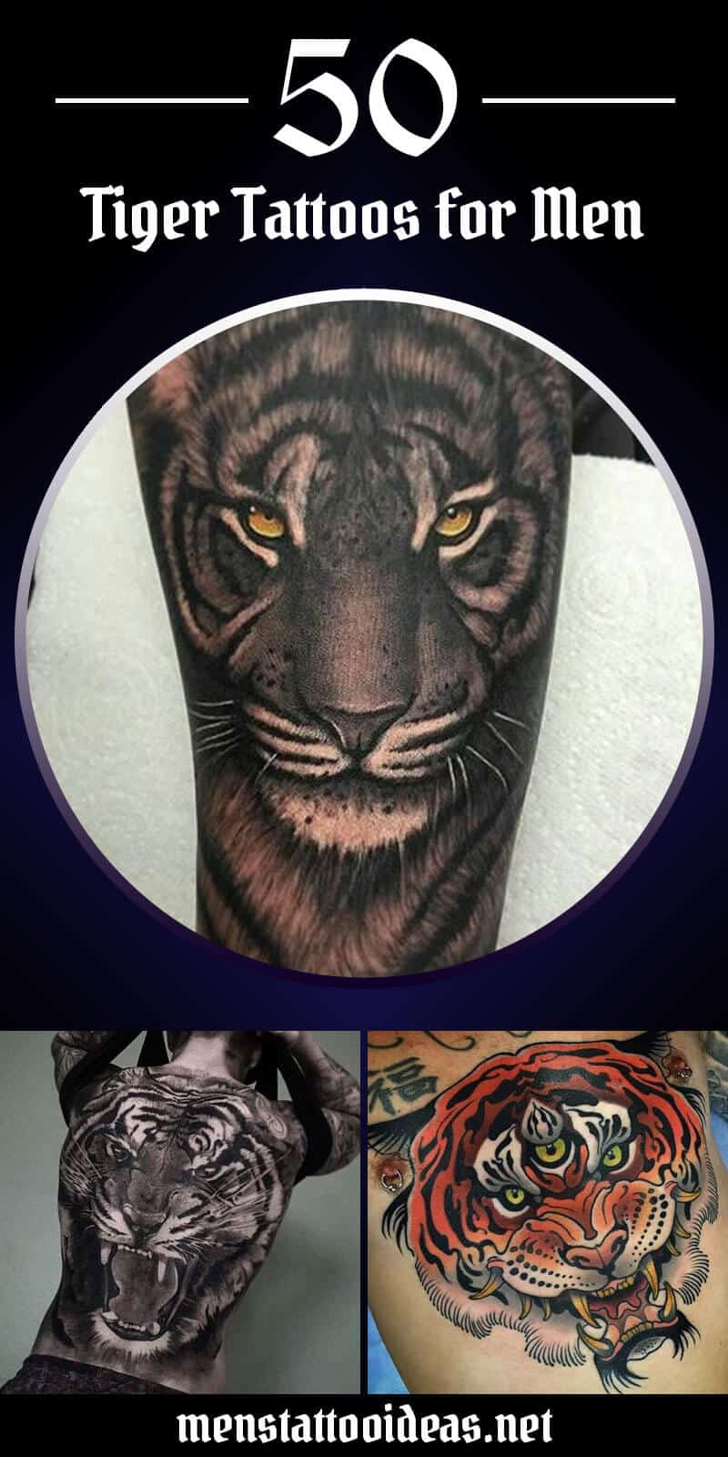 0d934df37 Tiger Tattoos for Men - Ideas and Designs for Guys