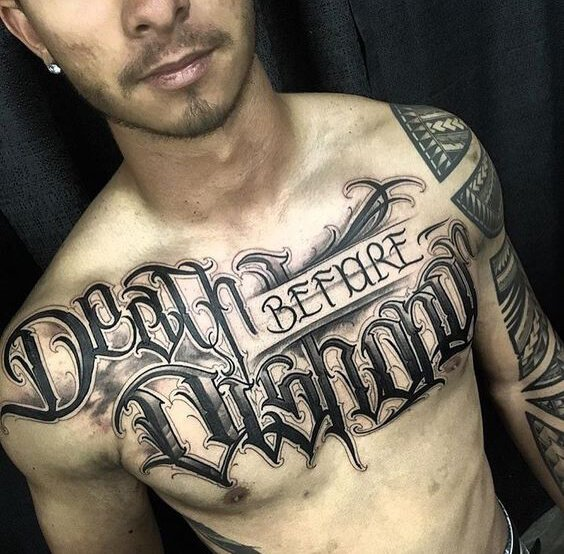Artistic Use Of Tattoo Fonts Ideas For Men