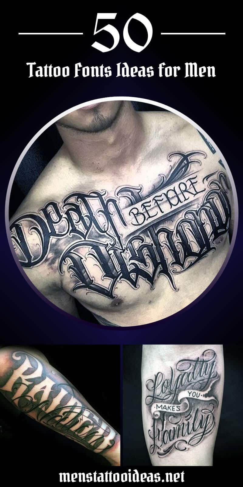Tattoo Fonts Ideas For Men