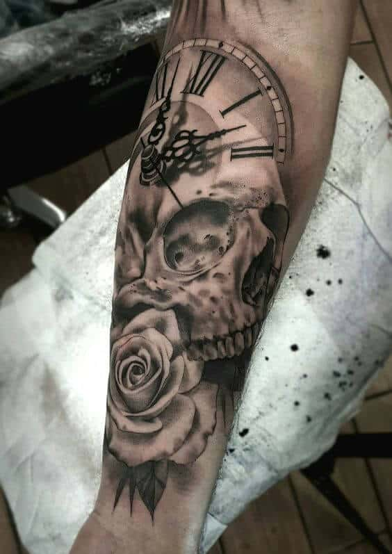 901341490aedf Clock Tattoos for Men - Ideas and Designs for Guys