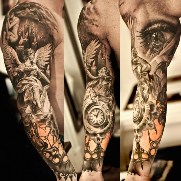 Time is Money Tattoo Designs For Men 004 Tattoo Design Mens Arm